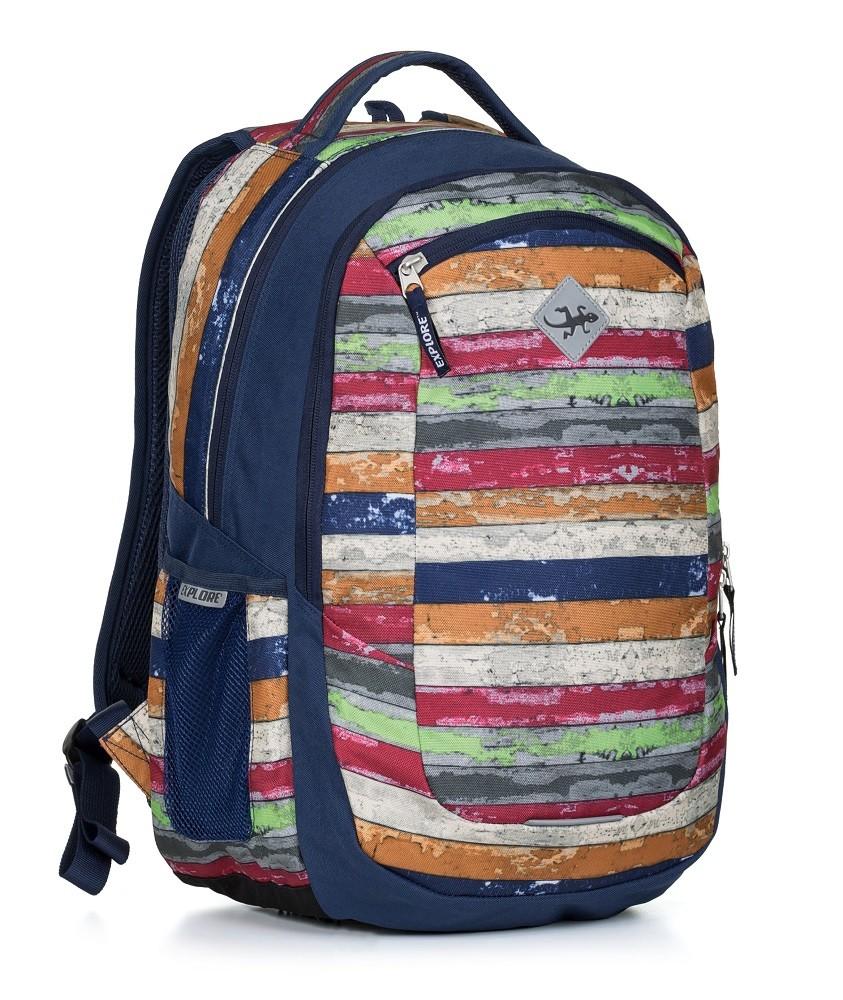 Studentský batoh VIKI colour wood  e14e9f1fcc