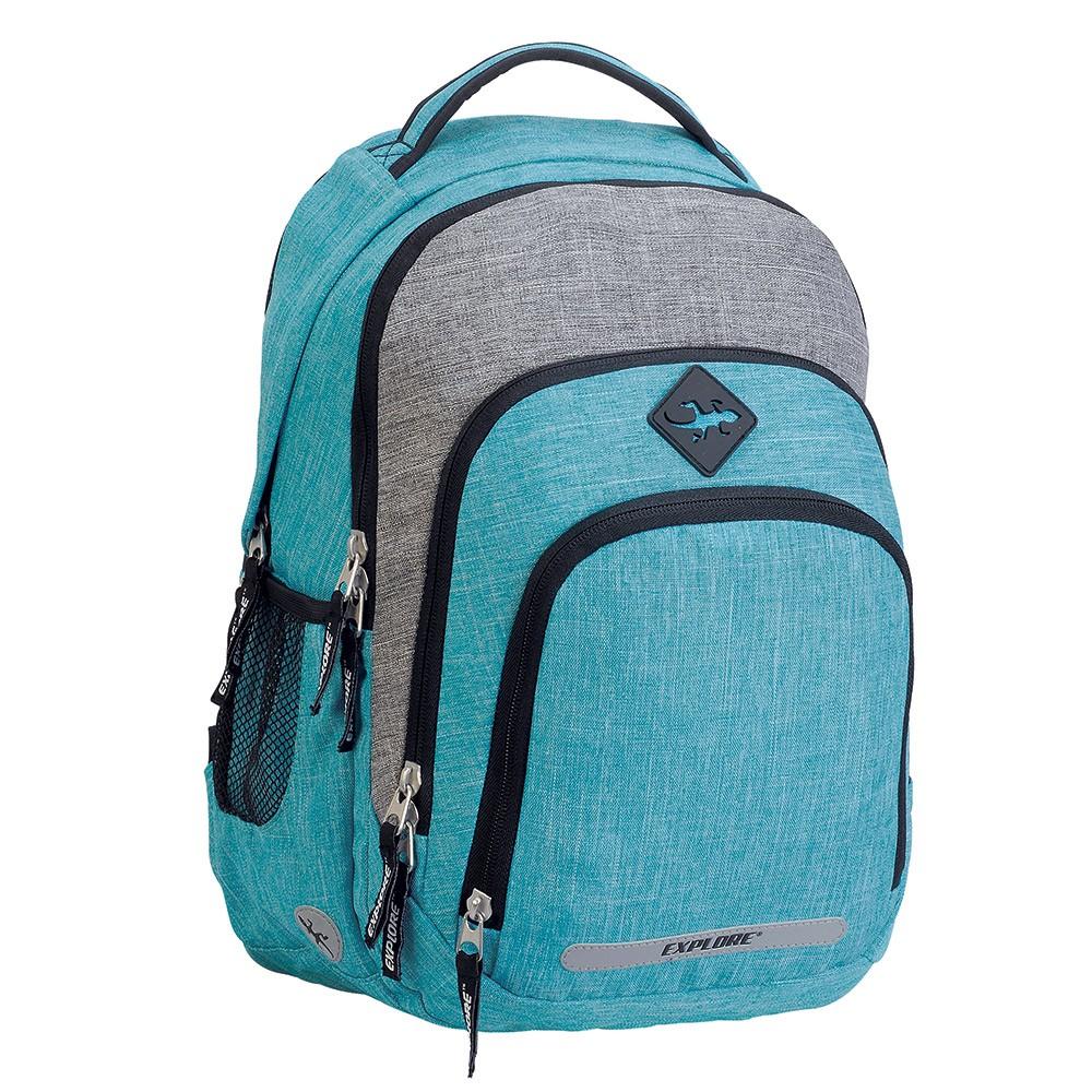 9a66655e00 Studentský batoh BAR turquise melange